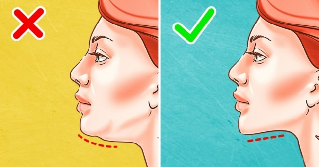 Eliminer un double menton